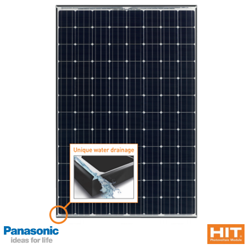 PANASONIC HIT N325 N330 96 Cell High Efficiency Solar Panel 35mm Black Frame Solar Panel