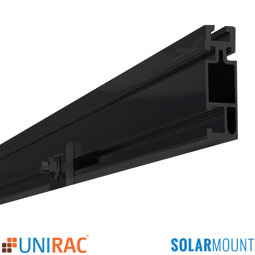 168 UNIRAC SolarMount Rail Black Dark 310168D 310240D