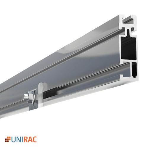 UNIRAC RAIL STANDARD DUTY 168 IN. 14 FT. CLEAR SOLARMOUNT SMUNIRAC Rail Mill