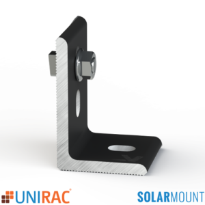 UNIRAC SolarMount Serrated L-Foot with T-Bolt Black Dark