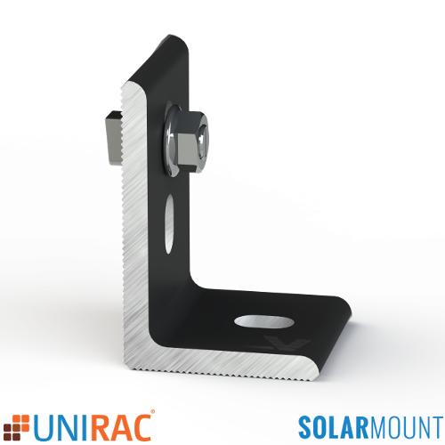 UNIRAC SolarMount Serrated L-Foot with T-Bolt Black Dark